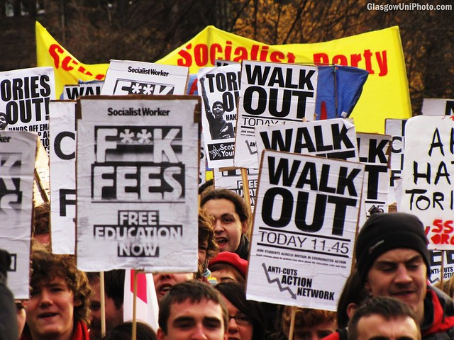 Protesting Education Cuts and Tuition Fees