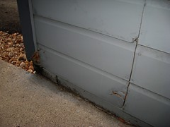 water-damaged siding and rotten wood