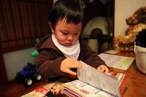 Little Man Reading @ Home, Shijih