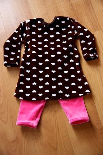 Tunic and leggins, size 80/86cm