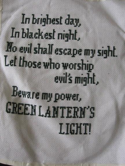 green lantern crossstich