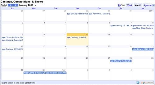 Contests etc. calendar