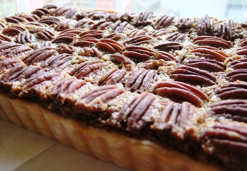 Black Bottom Pecan Tart