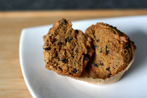 Currant Spiced Flax-Seed Muffins (gluten-free)