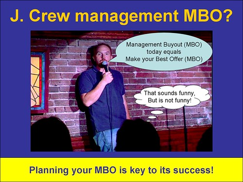 MBO equals MBO is not funny