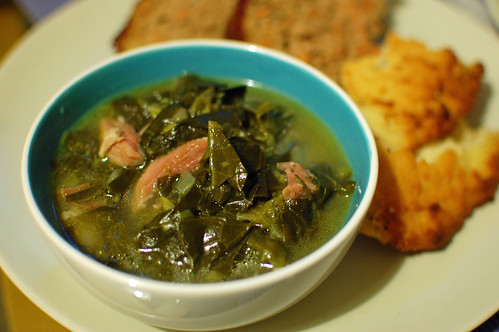 Collard Greens with a Gammon Shank