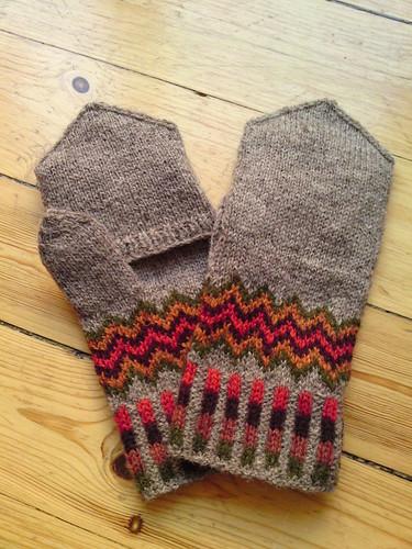 estonian handknitted mittens