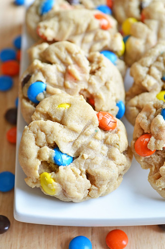 Peanut Butter and MM Cookies2