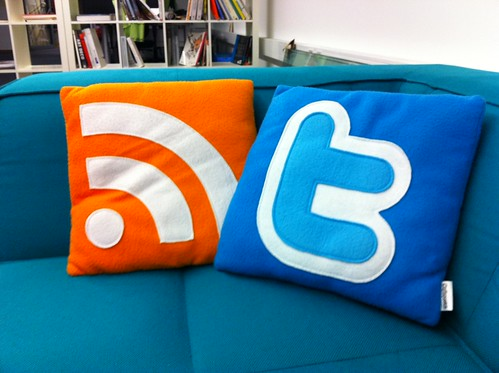 Photo of RSS and Twitter pillows