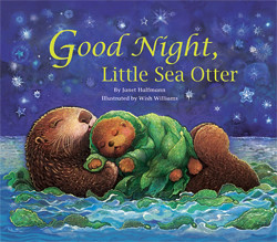 Good Night, Little Sea Otter book cover with floating mother and baby sea otters under a night sky