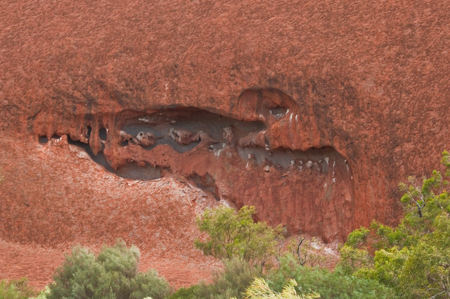 Uluru erosion or a crocodile