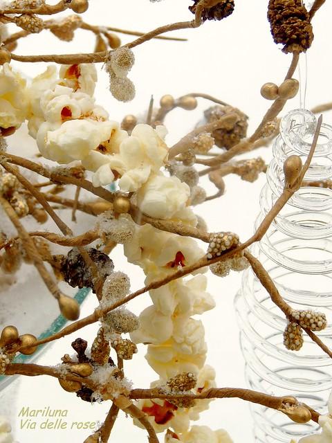 Neve in vaso con pop corn