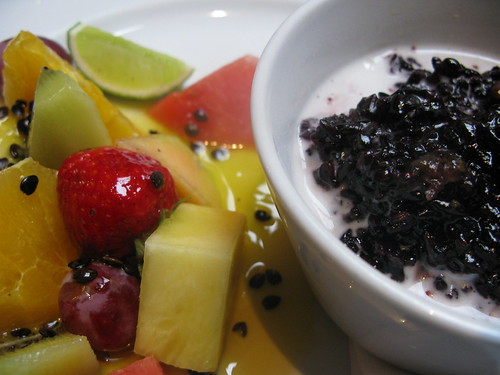 balinese sticky black rice with coconut cream & fruit