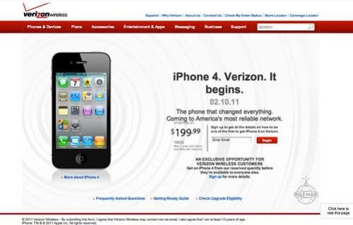 iPhone 4. Verizon. It begins.