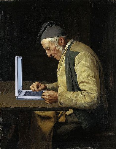 The Village Blogger, after Albert Anker by Mike Licht, NotionsCapital.com