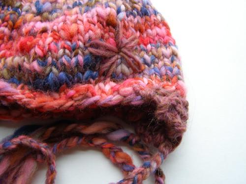 handspun flower hat
