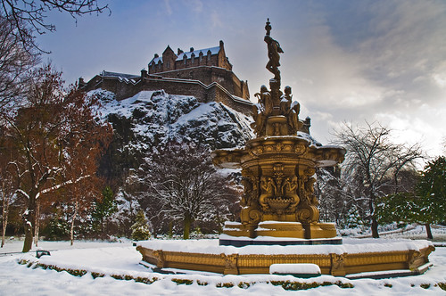 Ross Fountain in the Snow