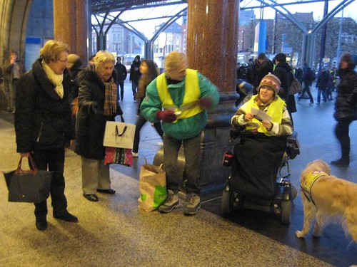 Campaign at the station