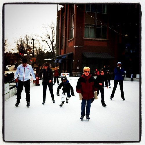 Ice skating with the family