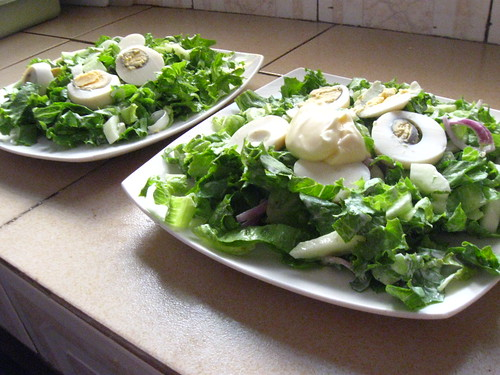 Ranch and egg salad