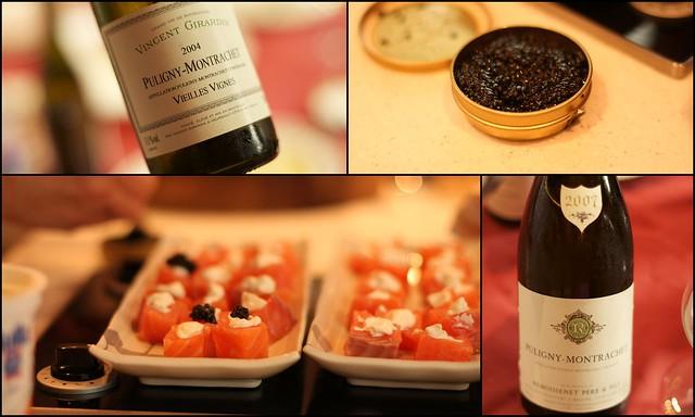 Caviar, Saumon et Puligny-Montrachet