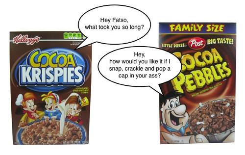 Cocoa Krispies vs. Cocoa Pebbles