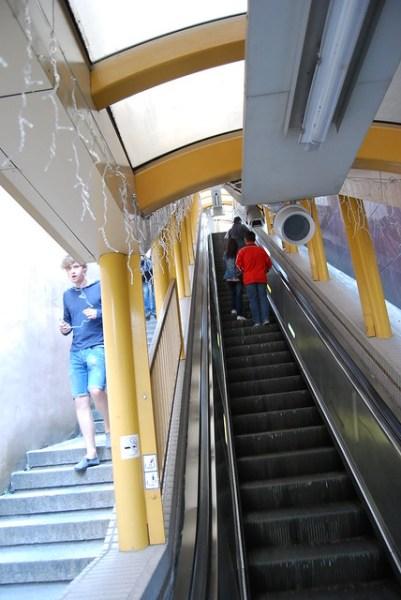 Un tramo de la escalera mecánica de Mid-Levels