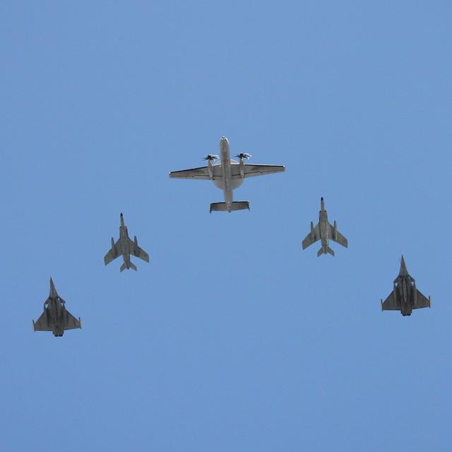 Northrop Grumman E-2 2000, Dassault Mirage F1 and Dassault Rafale M
