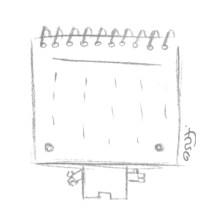 Rascunho do calendário Paper toy
