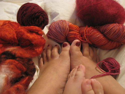 nails as red as...YARN