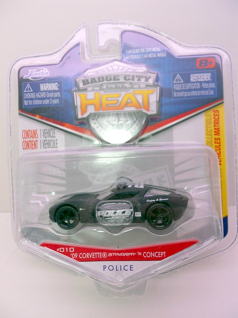 Jada Toys HEAT Police 09 Corvette stingray concept (1)