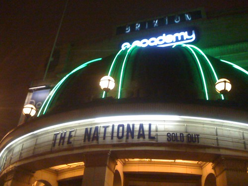 Brixton 02 Academy, London (The National 1/12/10)