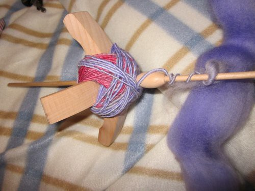 turkish spindle with spun wool