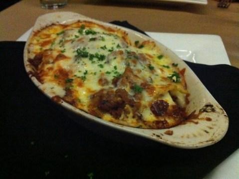 Lasagna from Spindini, Memphis, Tenn.
