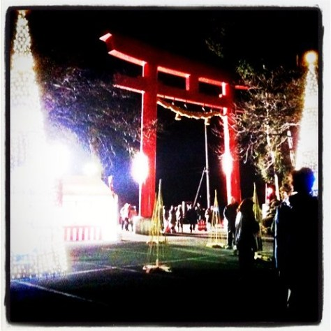 New Year's Eve at Yasuzumi Shrine.