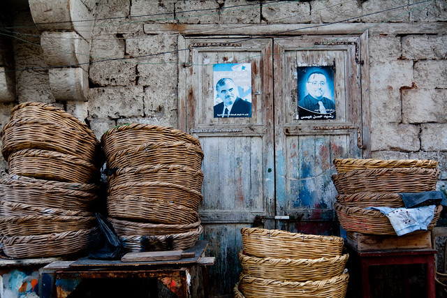 baskets and political figures