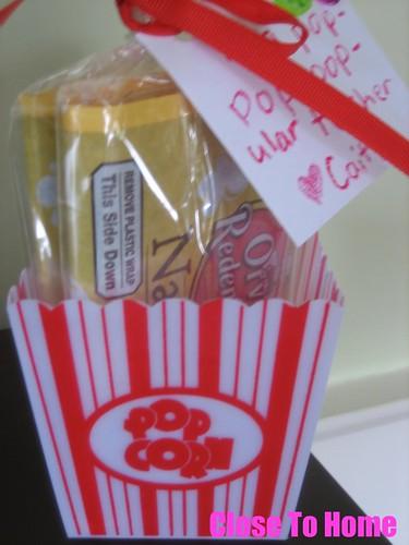 Diy Valentines Day Popcorn Teacher Gifts Free Gift Tag