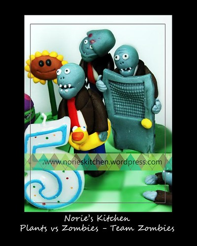 Norie's Kitchen - Plants vs Zombies Cake 4 Team Zombies