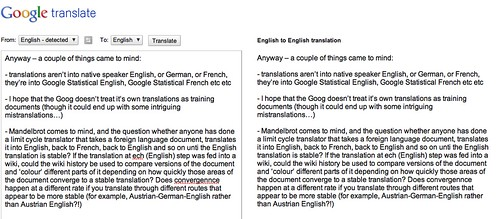 "Translate to Google Statistical (""Google Standard""?!) English"