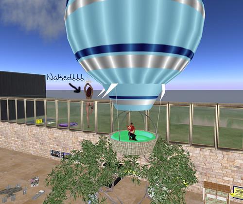 Riding in a balloon