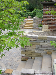 Natural Stone Work and Paver Driveway