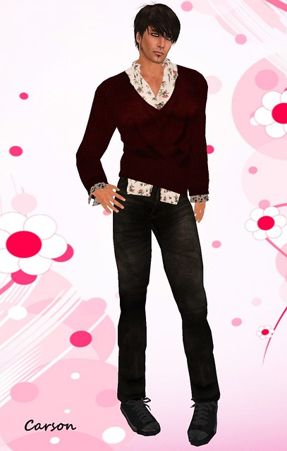 22769 Valentine Diva Hunt  Valentine Jumper, Shirt and Black Denim Jeans