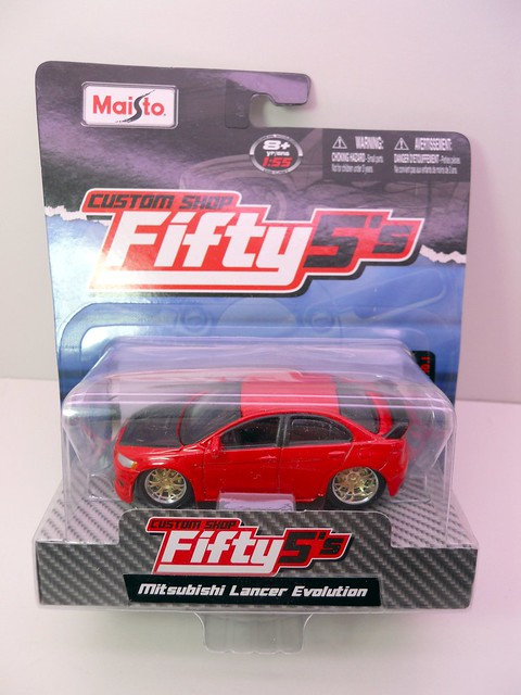 maisto custom shop fifty 5's mitsubishi lancer evolution (1)