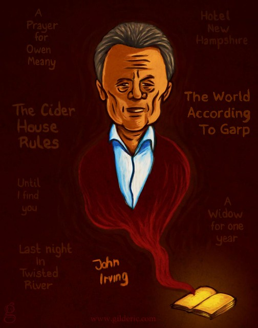 John Irving - Illustration de Gilderic