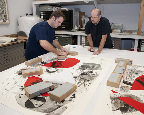 Matthew Squires and Tim Baker Work on a New Iva Gueorguieva Print Edition