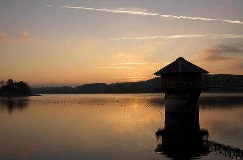 Sunset on Cropston Reservoir.