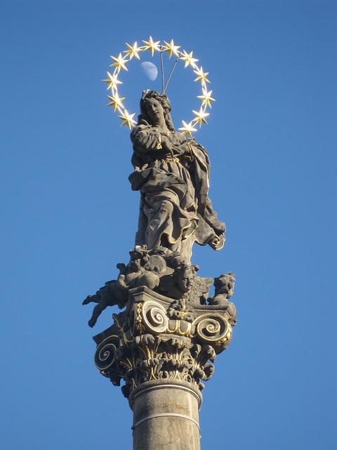 Moon through the Virgin Mary's Crown