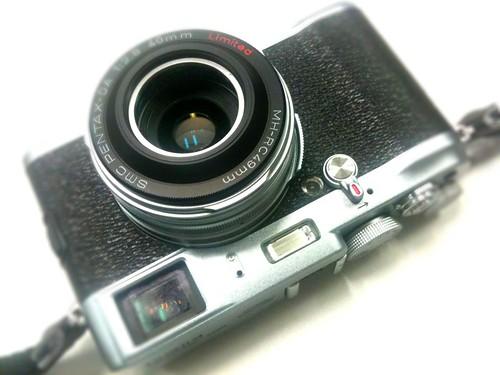 Fuji X100 with Pentax DA 40mm f/2.8 :-)
