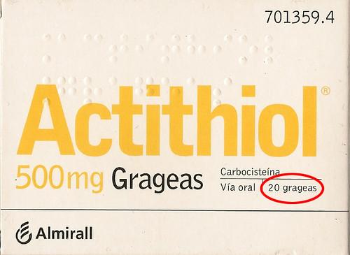 Actithiol Grageas
