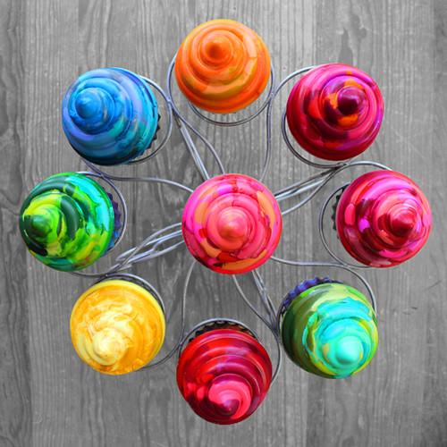crayon cupcakes 1
